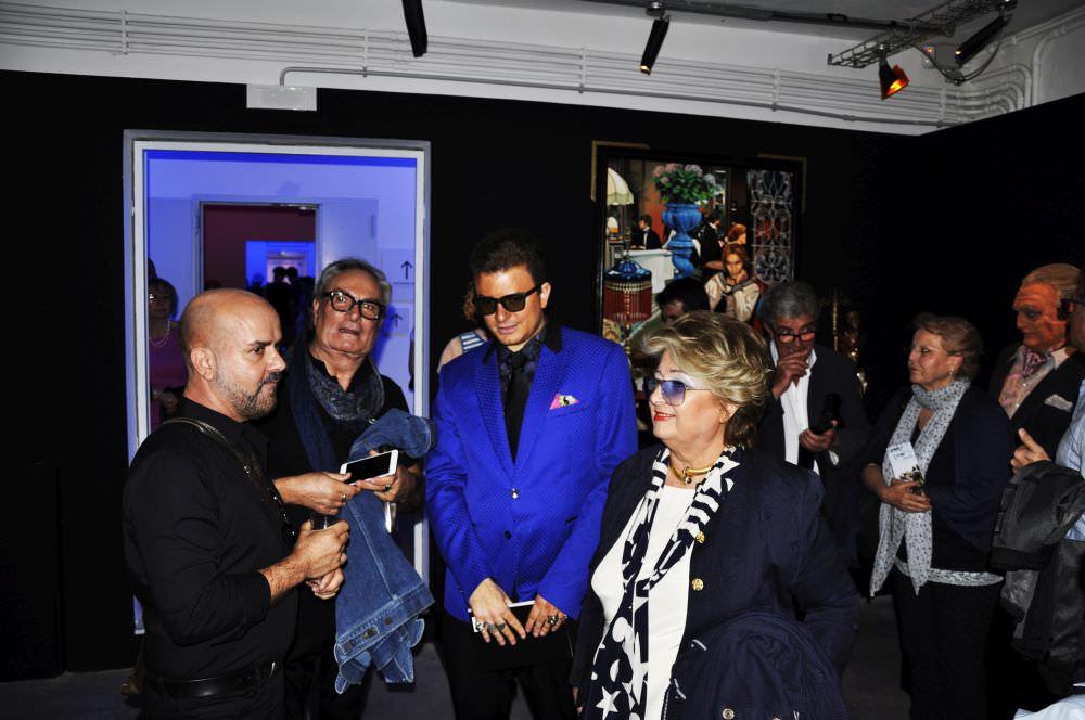 da sinistra M°Paolo Schmidlin, lo stilista Roccobarocco, il Commissario Daniele Radini Tedeschi, il M°Jucci Ugolotti