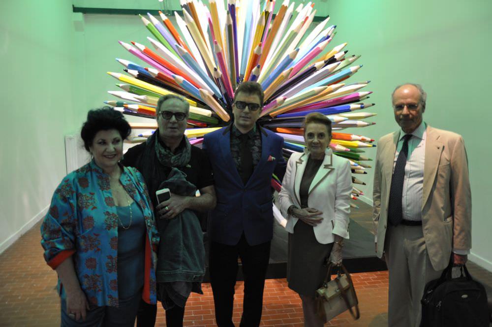 da sinistra l'attrice M°Marisa Laurito, lo stilista Roccobarocco, il Commissario Daniele Radini Tedeschi, l'Ambasciatore d'Italia Stefano Benazzo