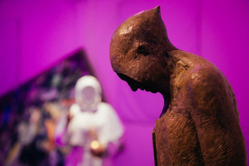 Max Leiva, Gordano Bruno (Part.), bronzo, 172x47x29 cm, 2015