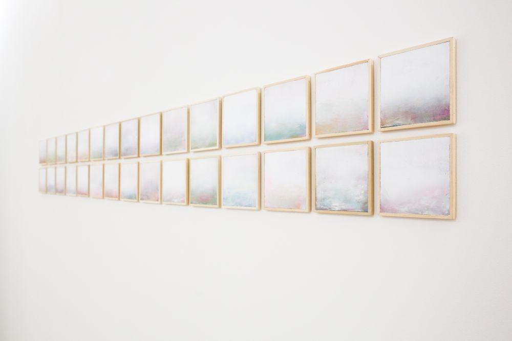 El Circulo Magico (Daniele Bongiovanni), Natura con deus, tecnica mista su tavola,15x15 cm.ciascuna, 2016