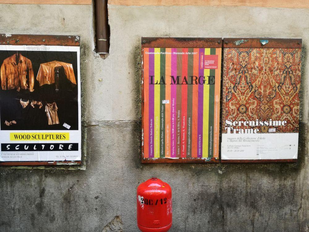 Manifesti pubblicitari a Venezia