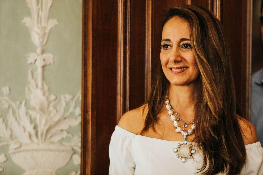 La coordinatrice del Guatemala nonchè artista Elsie Wunderlich