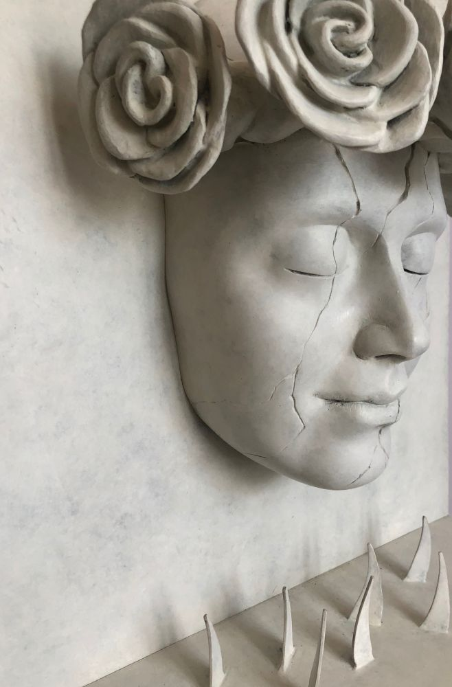 Elsie Wunderlich, No more (Be reborn Beyond the Sacrs), part., bronzo, 50 x 33 x 14,5 cm. 2019